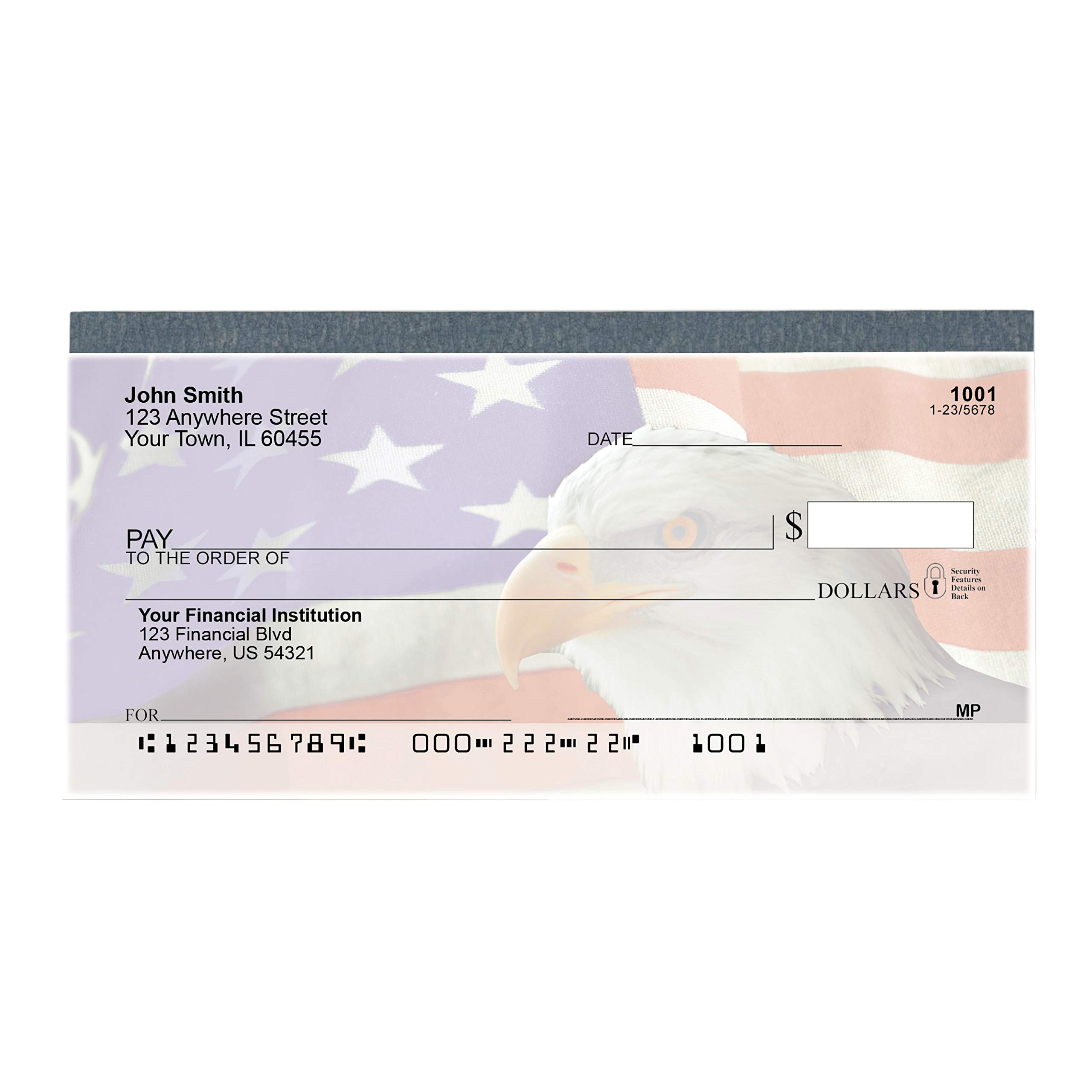 Soaring Over America Top Tear Value Priced Personal Checks (4 Boxes of Singles, Qty. 500) by Carousel Checks Inc.