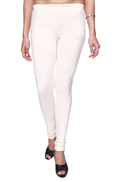 c63f4c4d4471da Trasa Cotton Lycra Leggings for Women's and Girls Churidar Leggings, Size  :- Large, Off-White - (Brand Outlet): Amazon.in: Clothing & Accessories