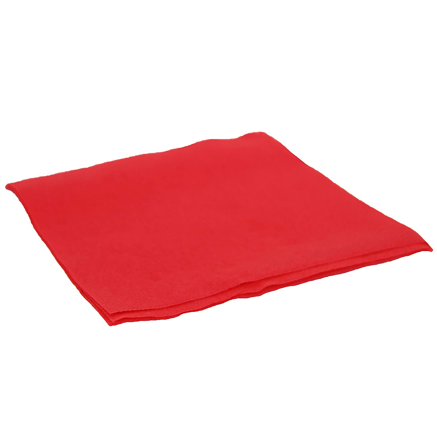 A Set of 100 Paper Napkins 33 x 33 cm Paper Napkin Double Point 2 Thickness Red
