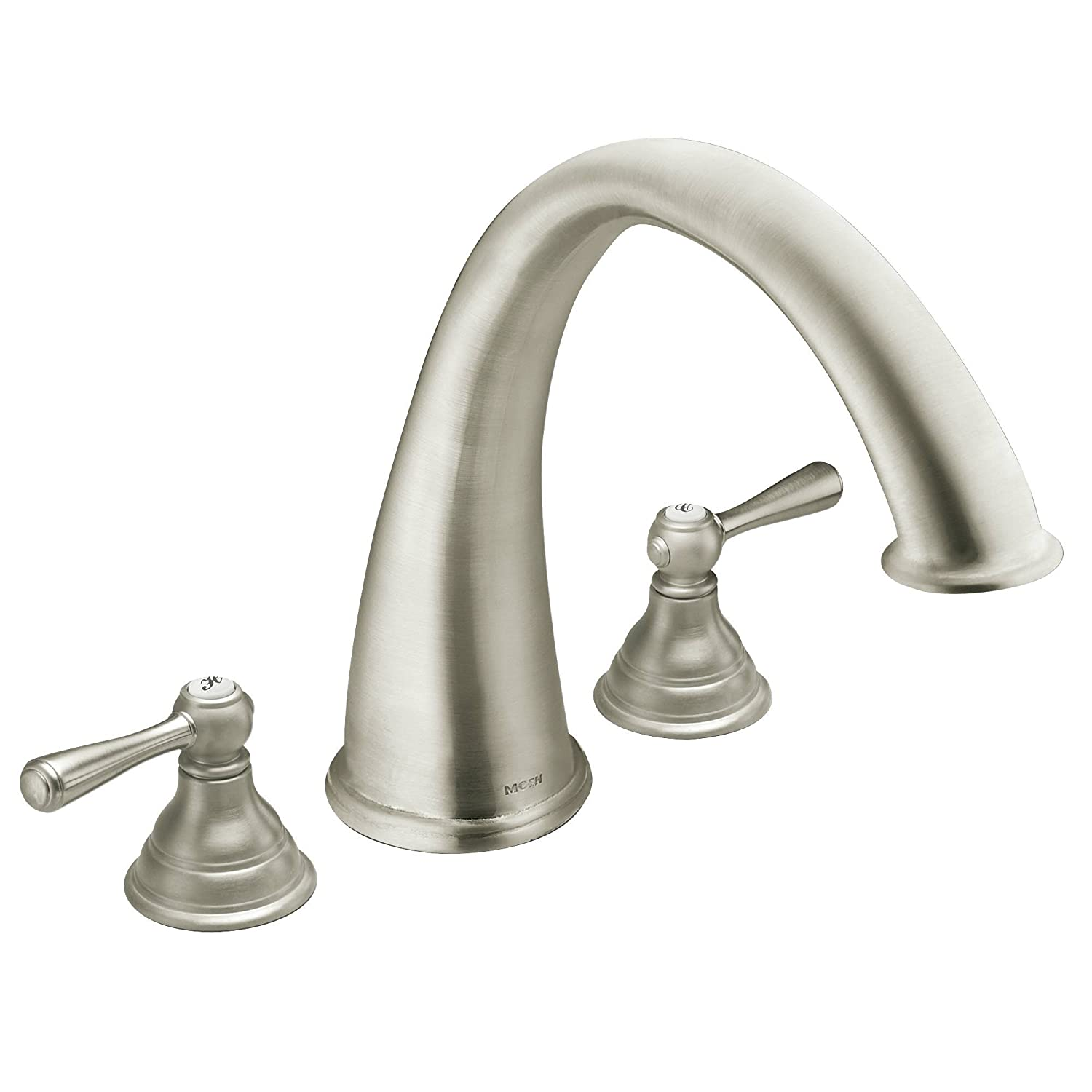 Moen T920BN Kingsley Two-Handle High Arc Roman Tub Faucet without ...