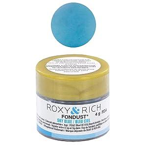 Fondust Hybrid Powder Food Color Sky Blue, 4 Grams by Roxy & Rich