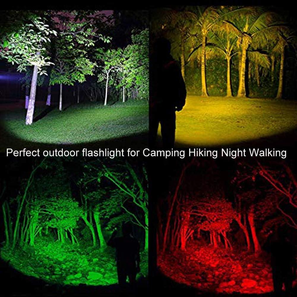 p/êche camping Lampe de poche avec lumi/ère rouge vert blanc jaune BESTSUN 4 couleurs en 1 couleur multicolore lampe torche led lampe de signalisation routi/ère pour vision nocturne astronomie