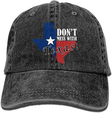 Dont Mess with Texas Stylish Denim Baseball Adjustable Caps Hats Navy