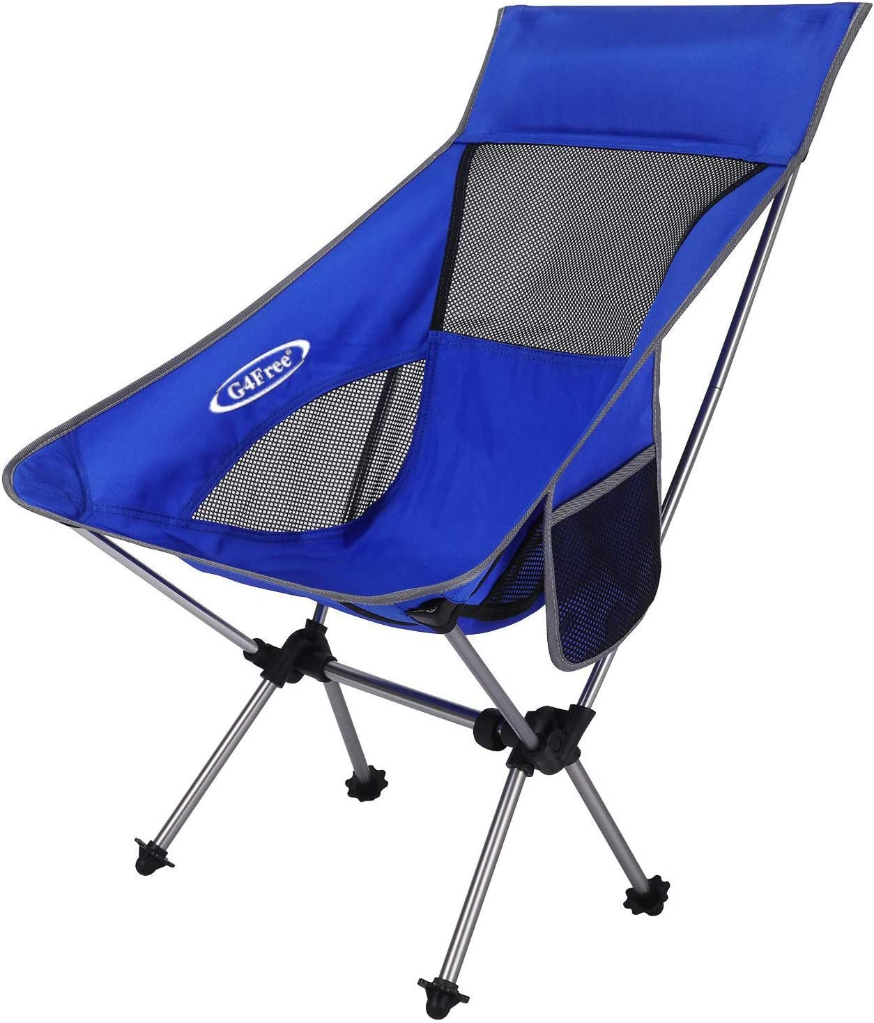 G4Free Portable Camping Chairs, Medium Size Ultralight Folding Compact Chair Heavy Duty 265lbs with Carry Bag for Outdoor Hiking Backpacking Picnic Beach