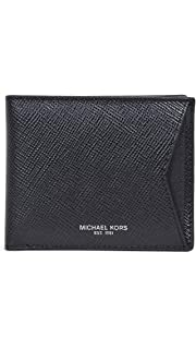9675aacc65294e Michael Kors Men's Odin Leather Billfold, Brown, One Size at Amazon ...