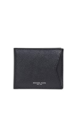 the latest 048b0 3fb7a Michael Kors Men's Harrison Wallet with Card Case, Black, One Size ...