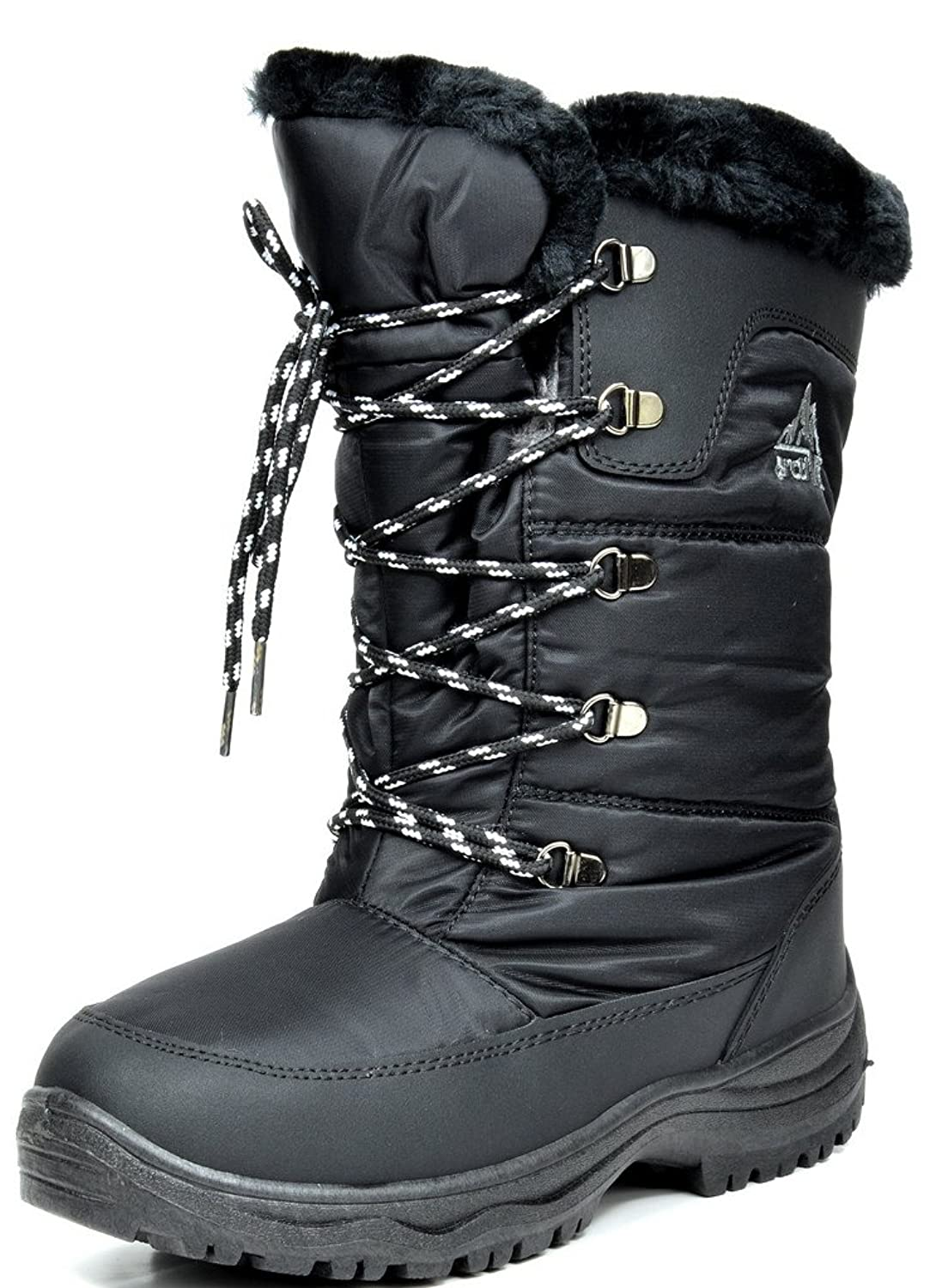 ARCTIV8 ALASKA Women's Winter Cold Weather Mid High Faux Fur Snow Skii Boots