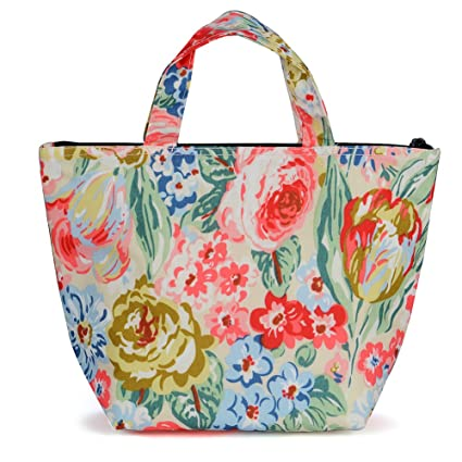 31171c084 Image Unavailable. Image not available for. Color: wonderful flower Aluminum  Foil Insulated Portable Lunch Box Zipper Tote Bag ...