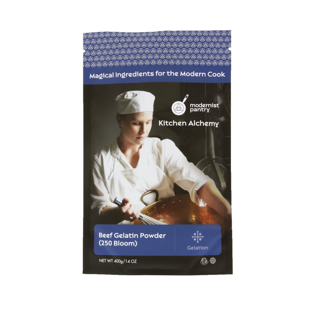 Pure Beef Gelatin Powder (250 Bloom) ⊘ Non-GMO ❤ Gluten-Free - 400g/14oz