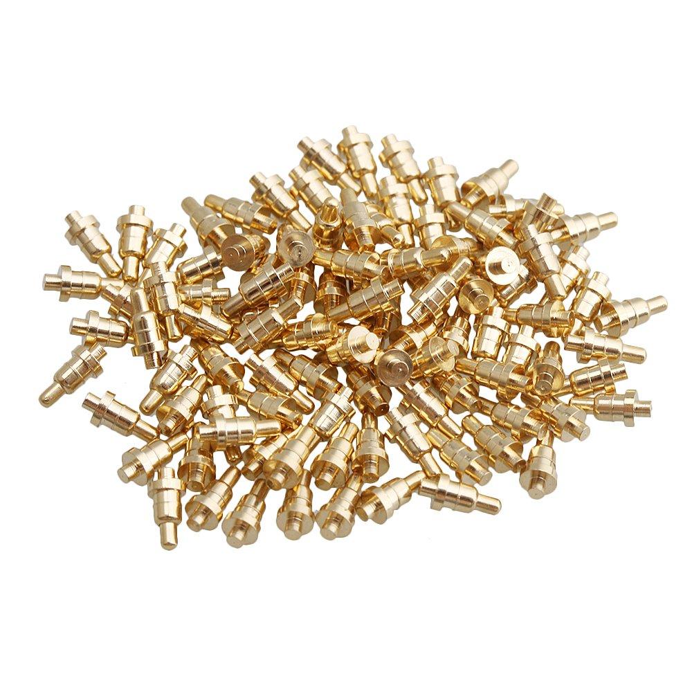 Yibuy 100 Piezas Chapado en Oro PCB Prueba sondas Molde Parte Pin Pogo Pin 1 mm Pin etfshop