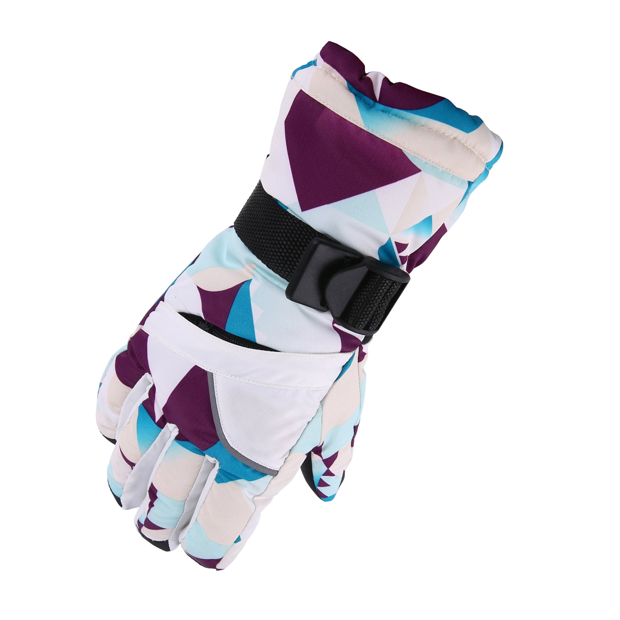 Unistrengh Women's Ski Gloves Warm Breathable Windproof Snow Snowboard Gloves for Winter Outdoor Skiing Snowboarding Snowmobile (Medium, Purple/White)