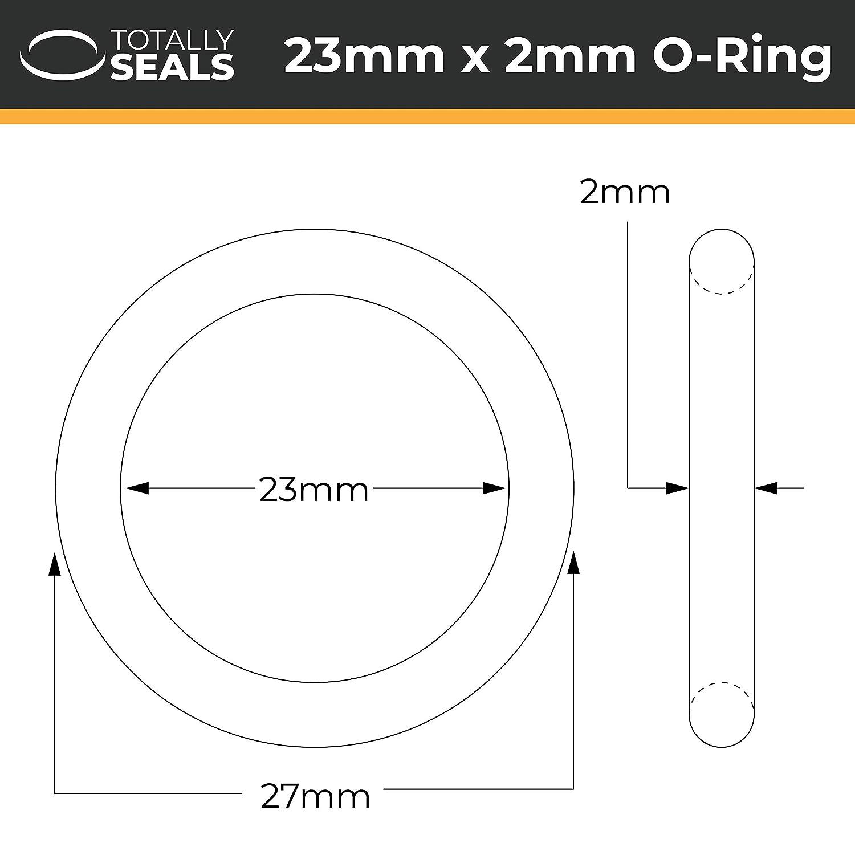 32 mm Au/ßendurchmesser 1 verschiedene Packungsgr/ö/ßen 27 x 2,5 mm Schwarz O-Ringe aus Nitrilkautschuk 70A Shore H/ärte