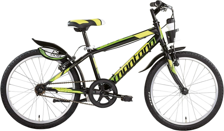 20 Pulgadas Joven City bicicleta Montana Escape, negro y naranja ...