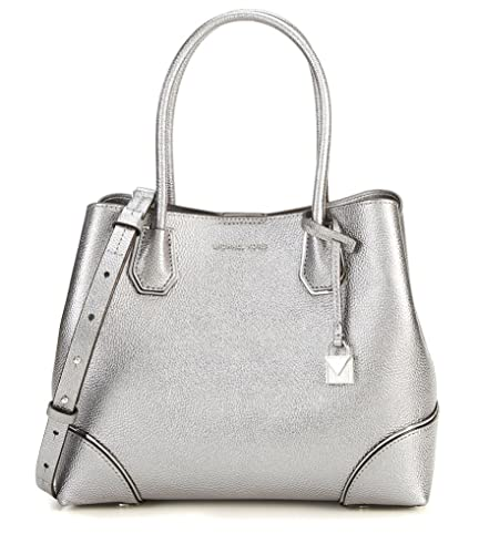a43d25dc1d9e Amazon.com: Michael Michael Kors Annie Medium Snap Top Tote, Light Pewter:  Shoes