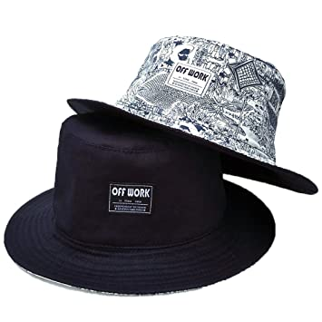 AJOG Hip Hop Bucket Sun Hat Unisex Mens Ladies Reversible Hiphop Bush  Sunhats bb06ec052b5c