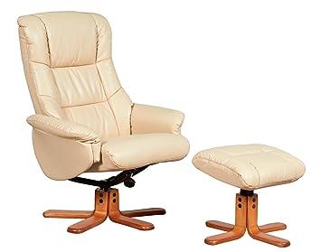 oak city shenhua bonded leather swivel recliner chair foot stool