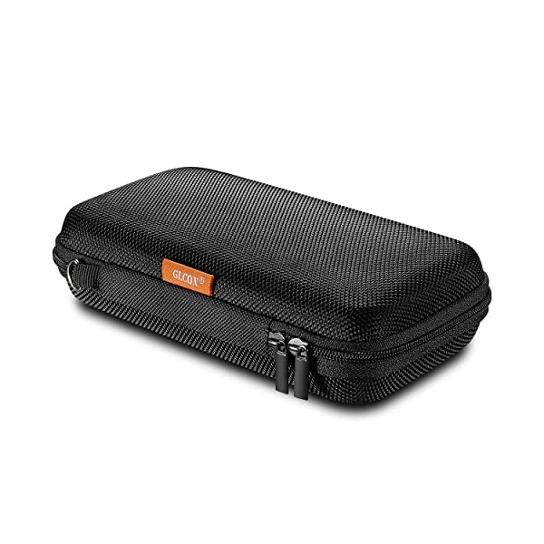 GLCON Portable Protection Hard EVA Case for External Battery,Cell Phone,GPS,Hard Drive,USB/Charging Cable,Carrying Bag Mesh Inner Pocket,Zipper Enclosure n Durable Exterior,Universal Travel Pouch Bag (Color: A Black M)