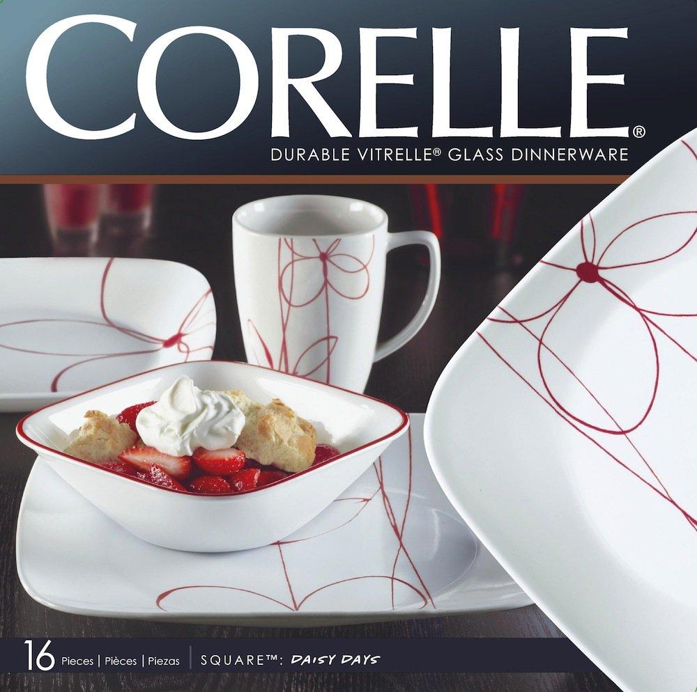 Corelle Livingware Dinner Set 16-Piece Set for 4/People Bamboo Leaf green