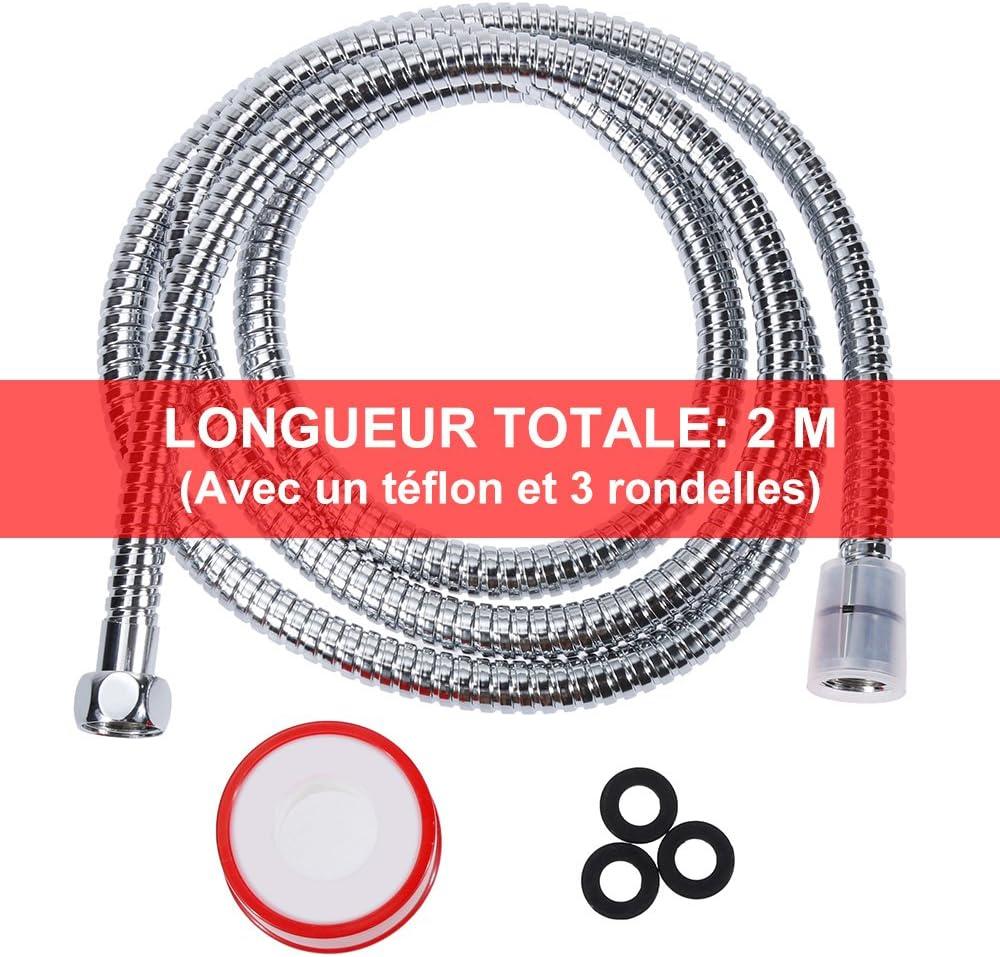 Rovtop Tuyau De Douche Flexible Tuyau En Acier Inoxydable 20m