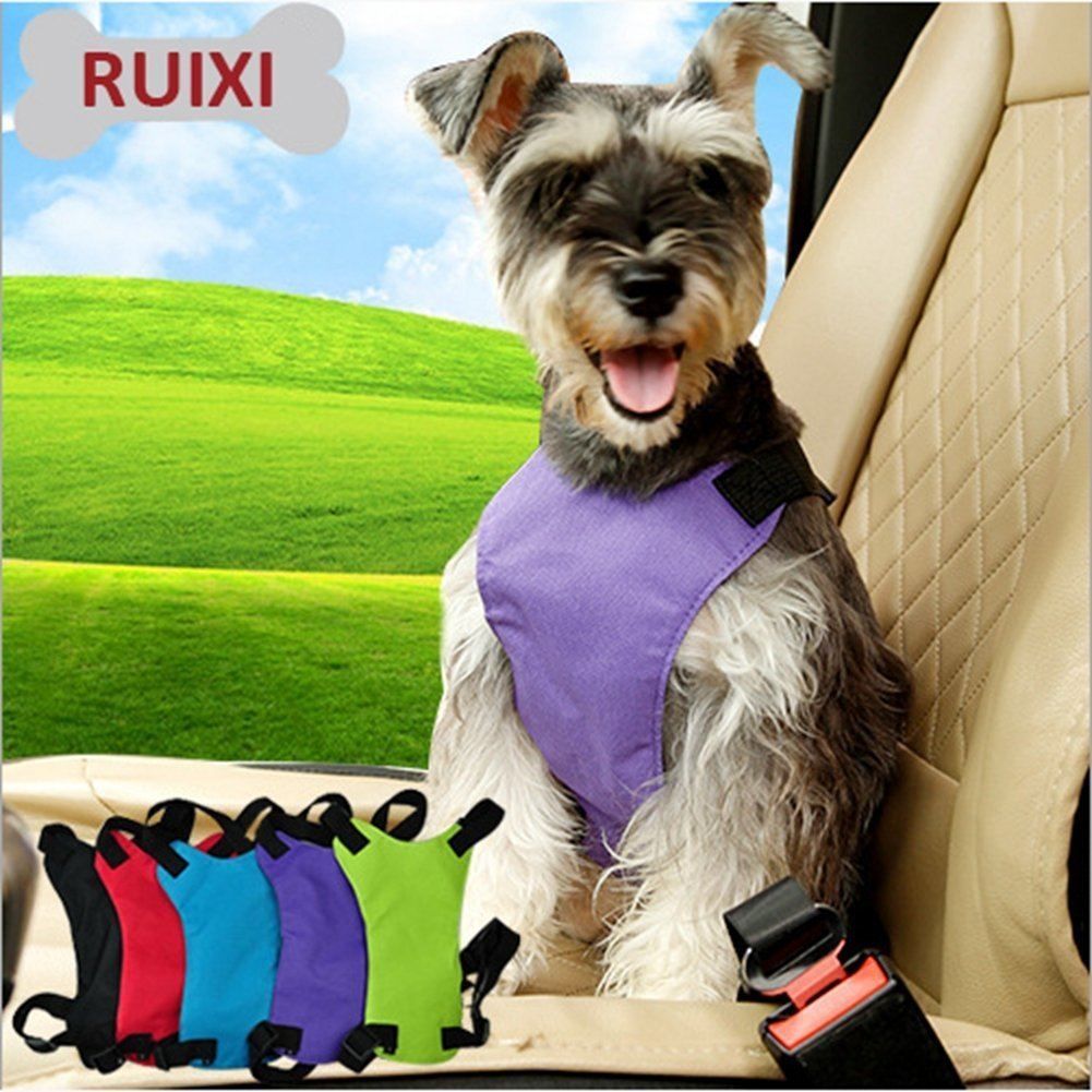 Rojo universal fit car dog veh/ículo pet del Cintur/ón de Seguridad Arn/és de Asiento de Coche para Perros Mascotas