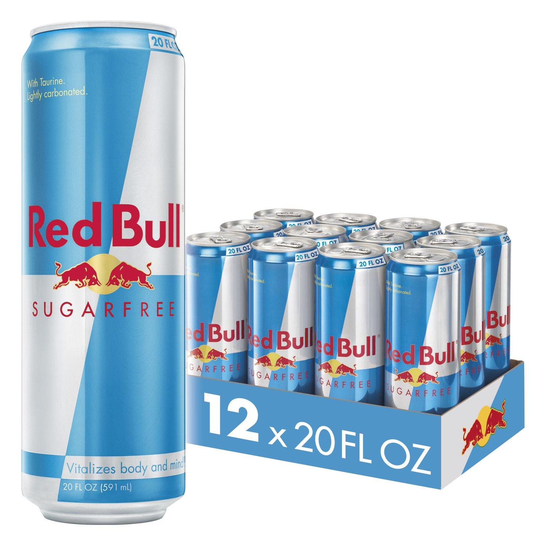 Red Bull Sugar Free Energy Drink, 20 Fl Oz (12 Count)