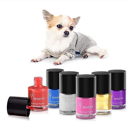 Amazon Com Dog Nail Polish Set 6 Color Set Pink Purple Red