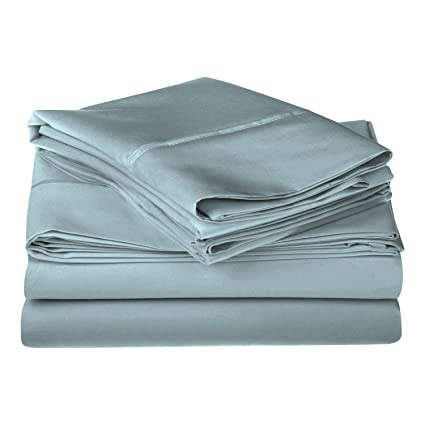 Beau 1200 Thread Count 100% Egyptian Cotton, Single Ply, Queen Bed Sheet Set,