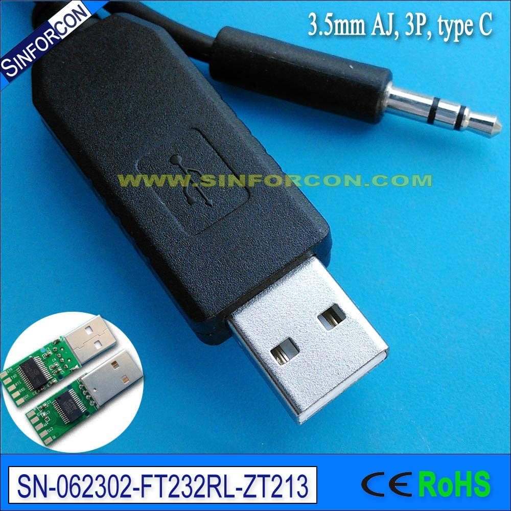 Cable Length: TipRX RingTX SLV GND, Color: RS232 DB9 to 3.5mmAJ Computer Cables Linux win8 10 Yoton ft232rl USB rs232 to 3.5mm Jack Galileo Board Serial Console Cable Program Cable