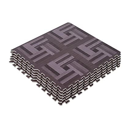Amazon.com : Soozier Interlocking Puzzle Foam Floor Tile Mats ...