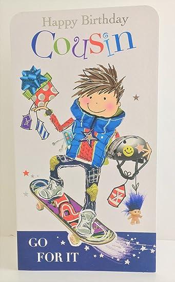 Jonny javelin boy cousin birthday card amazon electronics jonny javelin boy cousin birthday card m4hsunfo