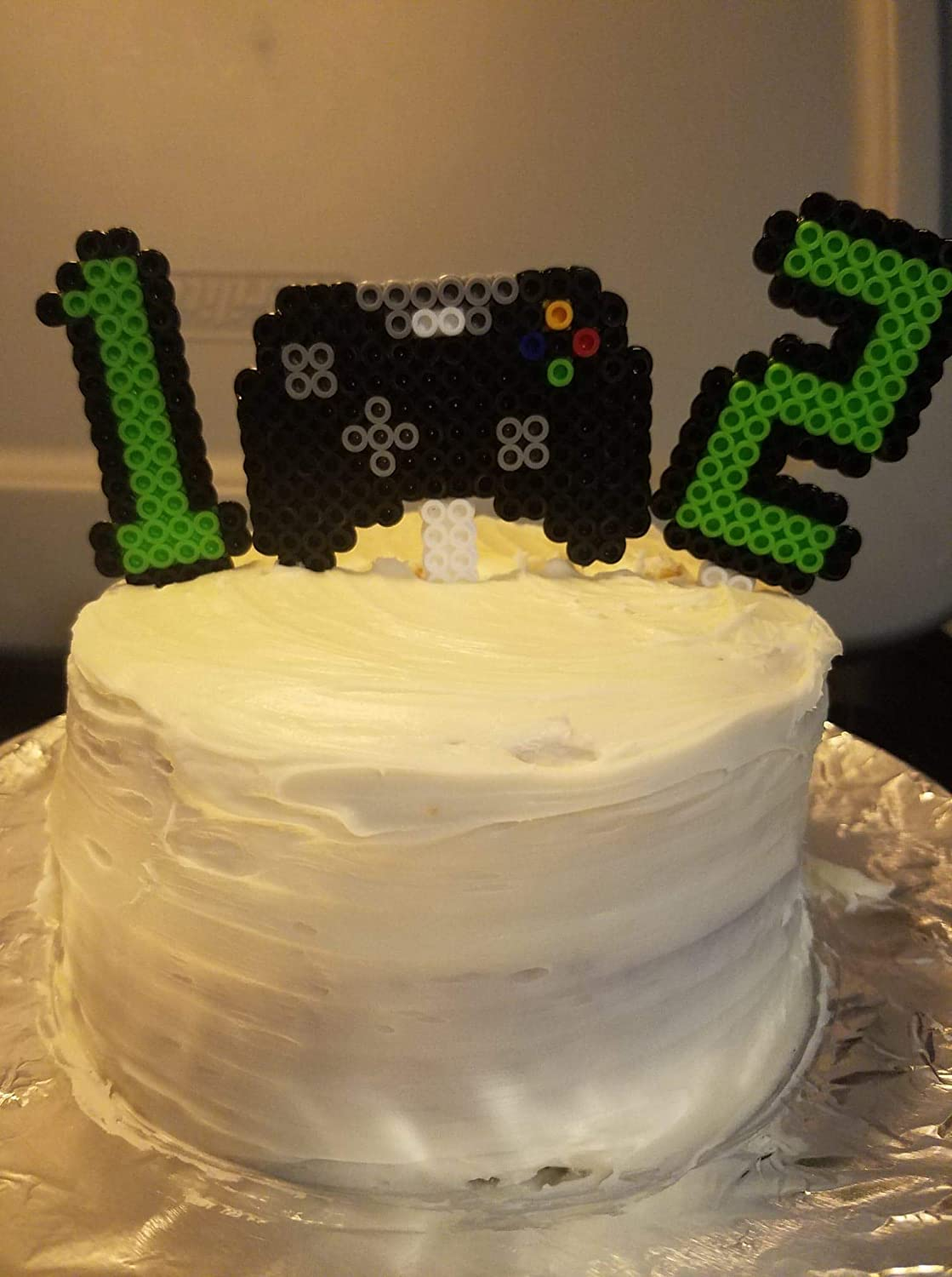 Swell Amazon Com Gamer Birthday Cake Topper Set Handmade Funny Birthday Cards Online Alyptdamsfinfo