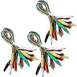 ELEGOO 30 pezzi Test Lead con Clip di Alligatore Doppio-end 50cm Filo del Ponticello Jumper Wire