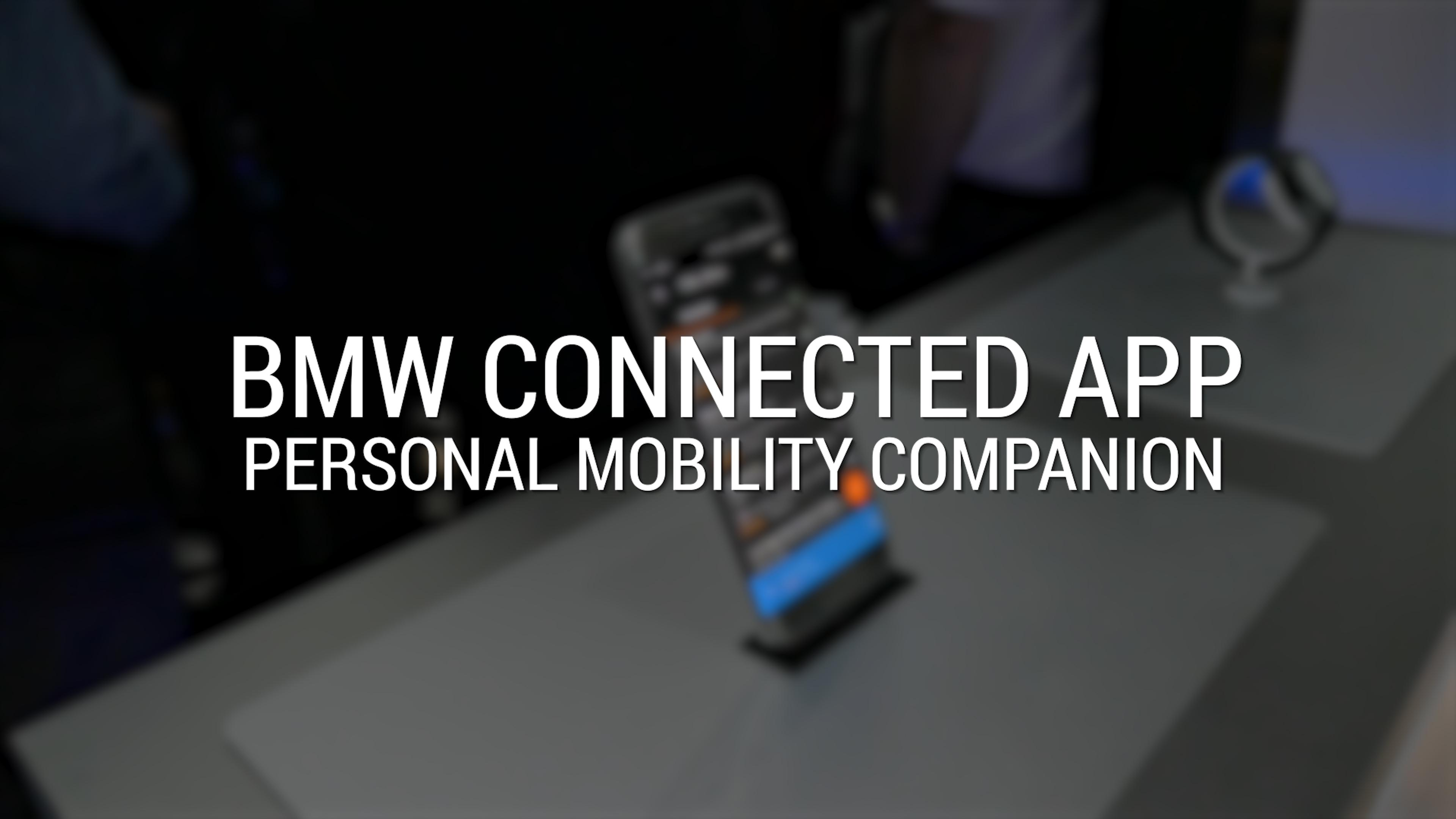 BMW Connected App Personal Mobility Companion | CES 2017 | Autoblog