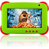 """Fusion5 7"""" Ergonomic Designed* Green Kids Tablet PC - Quad Core, WiFi, Games, 1GB RAM, 8GB Storage, IPS Screen, Kids Apps, Dual Camera, Parental Controls and many more - Tablets for Kids with Wifi"""