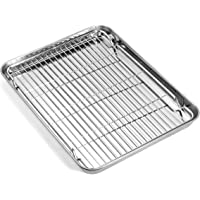Baking sheets and Rack Set, Zacfton Cookie pan with Nonstick Cooling Rack & Cookie sheets Rectangle Size 12.5 x 10 x 1…