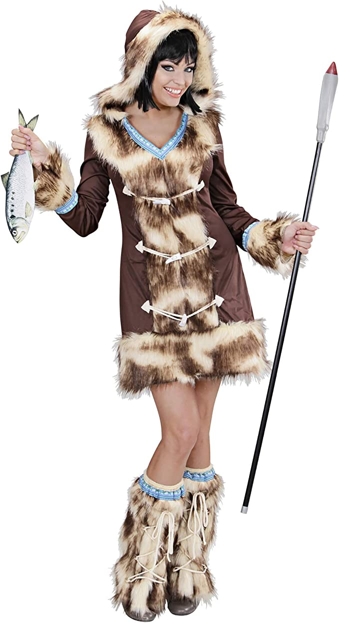 WIDMANN wdm02431 ? Disfraz para adultos esquimal aikaa, marrón, S ...