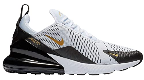 timeless design e5b0e 61d1c Nike Men's Air Max 270 White/Black/Gold AV7892-100 (Size: 9.5)