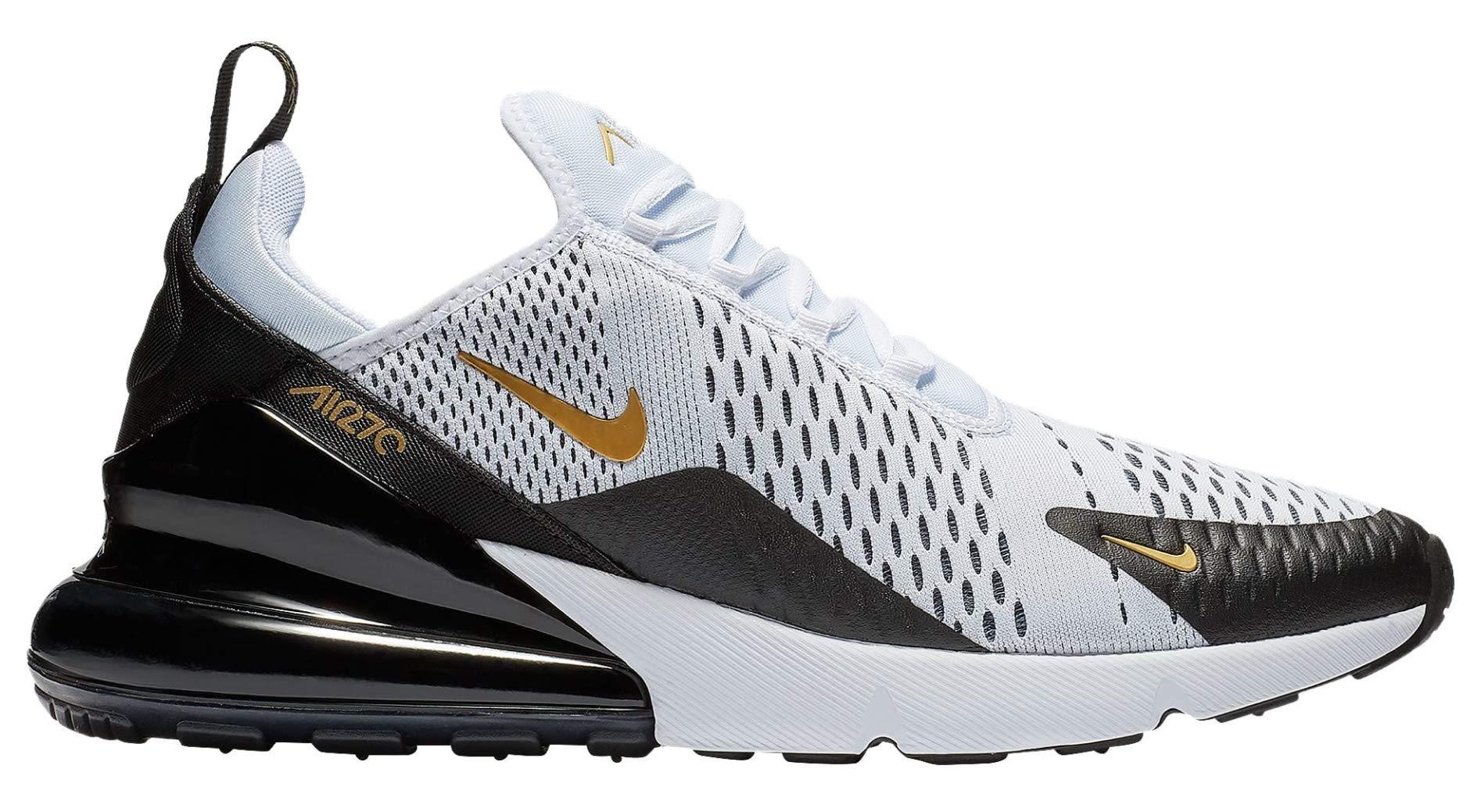 Nike Men's Air Max 270 WhiteBlackGold AV7892 100 (Size: 10.5)