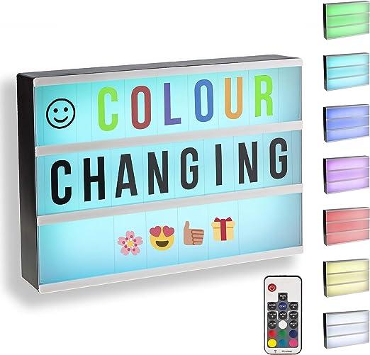 Gadgy ® Caja de Luz Cinematográfica Cambio Color A4 con Control ...