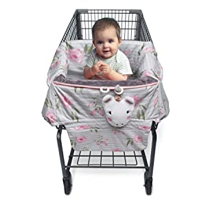 Boppy Preferred Shopping Cart & Restaurant High Chair Cover, Pink Unicorn