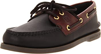 Sperry Top-Sider Authentic Original Leather Boat Shoe Men 11 - Black