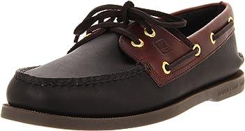 Sperry Top-Sider Authentic Original Leather Boat Shoe Men 11 - Black