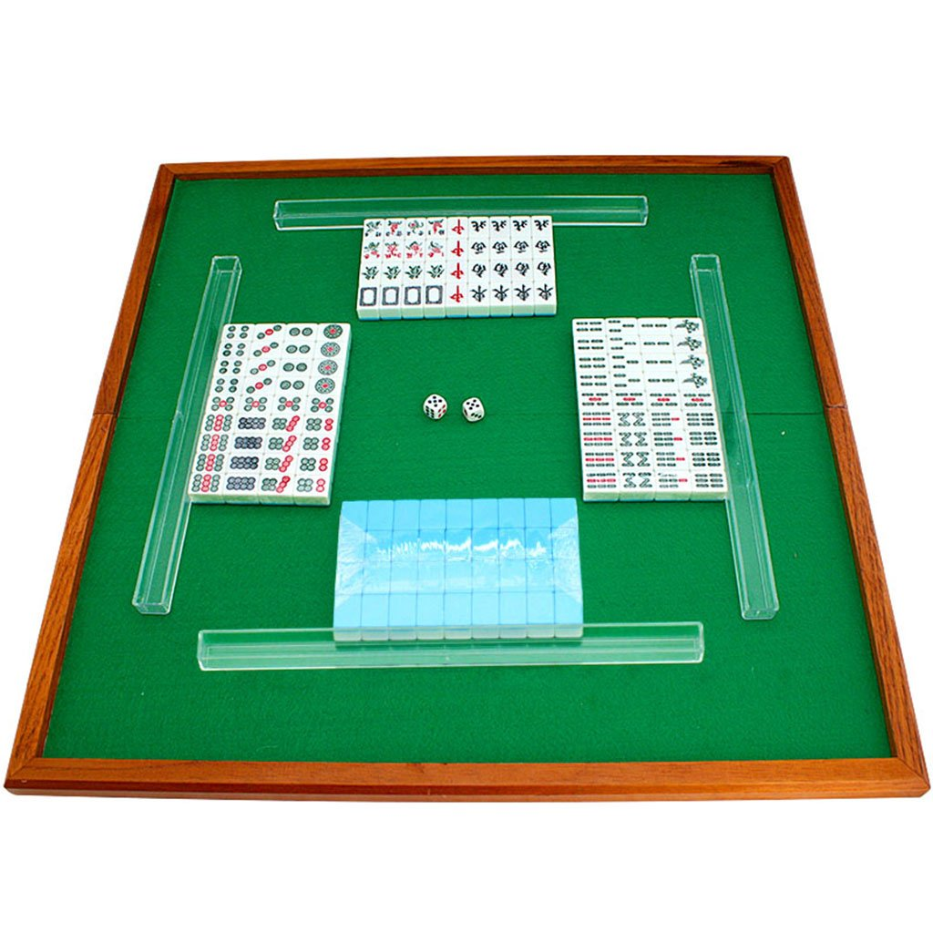 LI JING SHOP - Mini Mahjong Sparrow Karte / Reise Hand Reiben Mahjong / Hand Typ Dorm Zimmer Mahjong Karte Einfache Installation Portable Tasche Lovely Kleine Hanf Größe: 2 * 1.4 * 1.1CM ( Farbe : Blau )