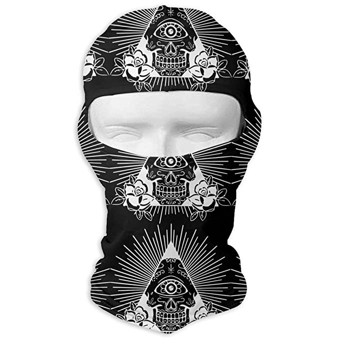Illuminati Symbol Sugar Skulls Unisex Face Mask Dust Sun UV