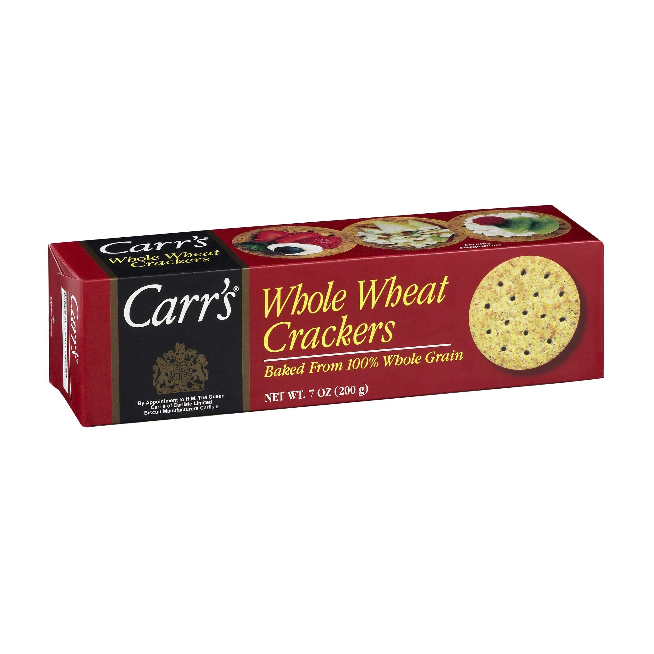 Carr's Whole Wheat Crackers, 7-Ounce Units (Pack of 12)