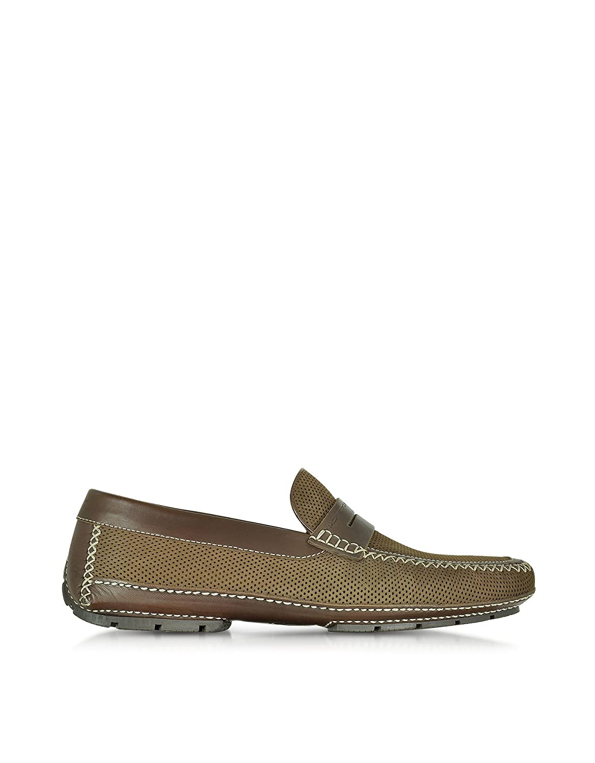 MORESCHI MEN'S 41599SHBAHAMASBROWN BROWN LEATHER LOAFERS