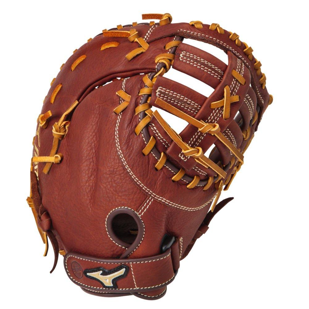 Mizuno gxf58 MVPシリーズ13インチ野球またはソフトボール大人用First Baseman Mitt – Brickdust B014340800 Right-Handed Throw
