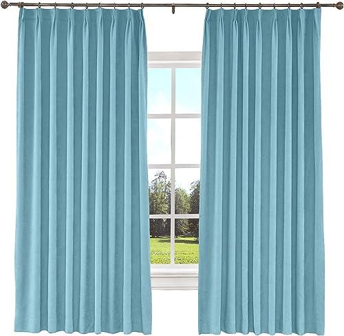 TWOPAGES 150 W x 96 L inch Pinch Pleat Blackout Curtain