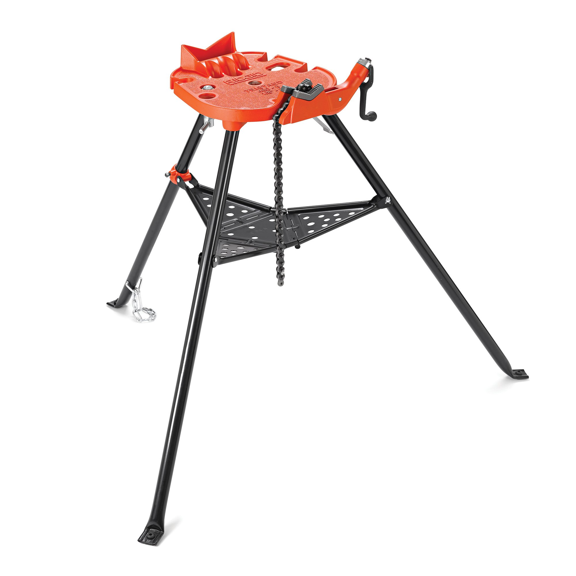 RIDGID 36273 Model 460-6 Portable TRISTAND Chain Vise, 1/8-inch to 6-inch Pipe Vise by Ridgid
