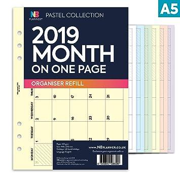 NBplanner® 2019 - Planificador mensual de una página Filofax ...